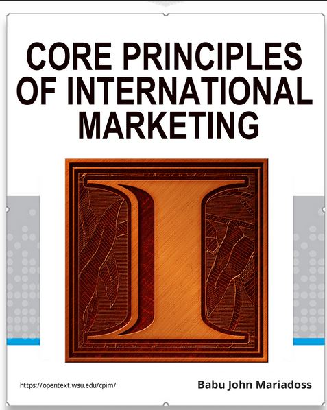 Screenshot showing the cover of Core Principles of International Marketing