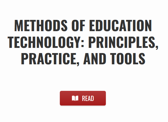 Methods of Education Technology textbook screenshot