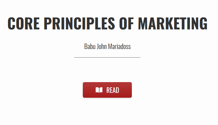 Core Principles of Marketing textbook