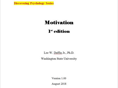 Cover to Daffin's Motivation textbook
