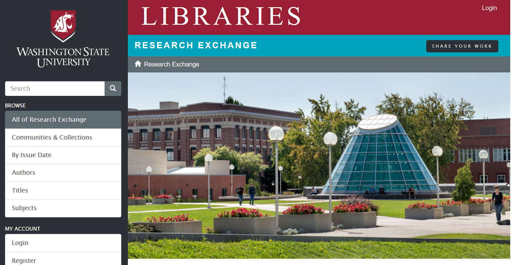 Research Exchange home page