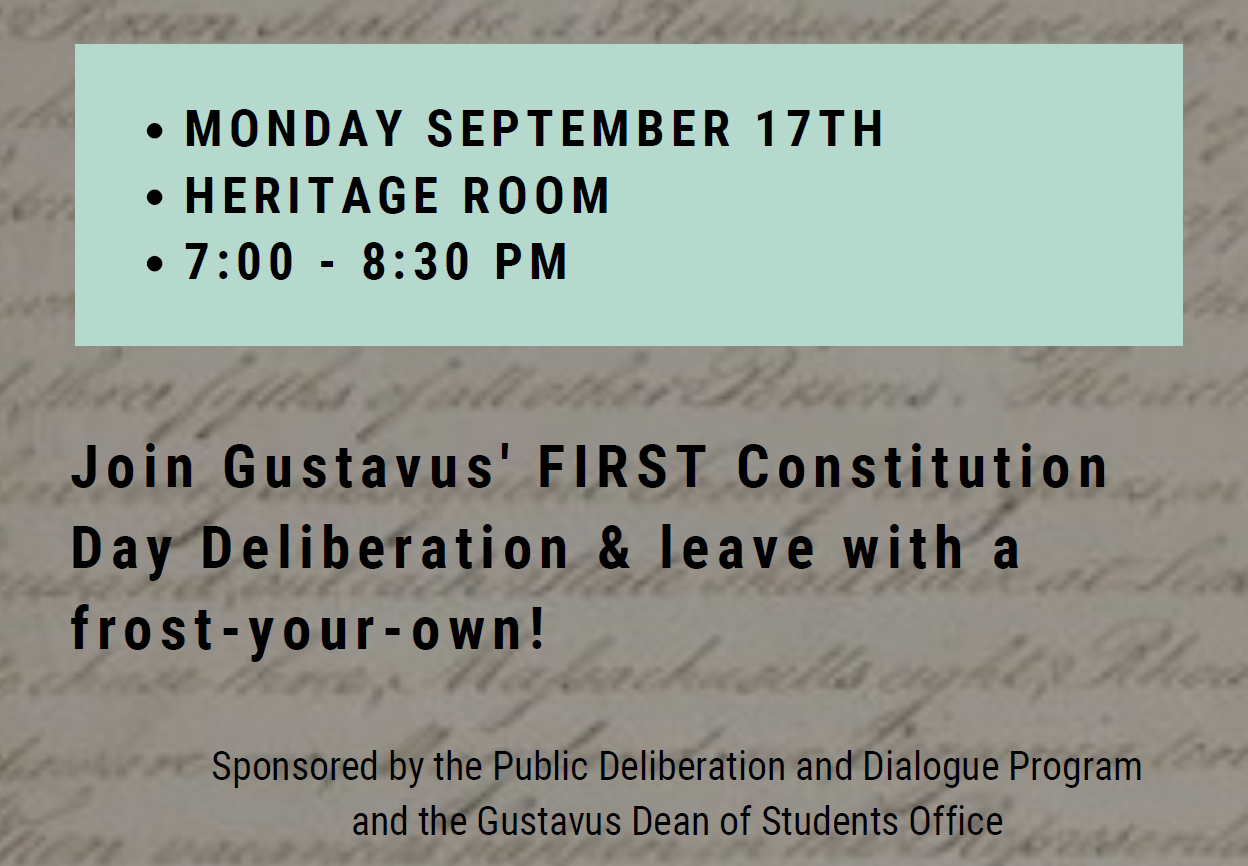 Constitution Day Deliberation