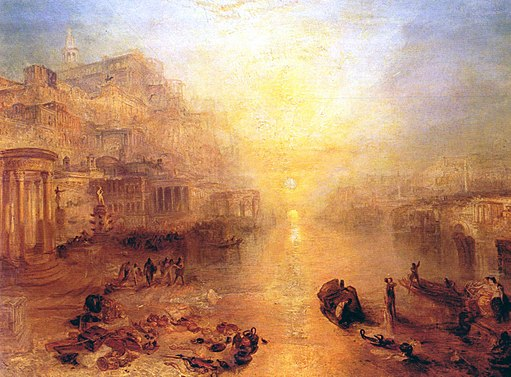Ovid Banished from Rome - painting by JMW Turner