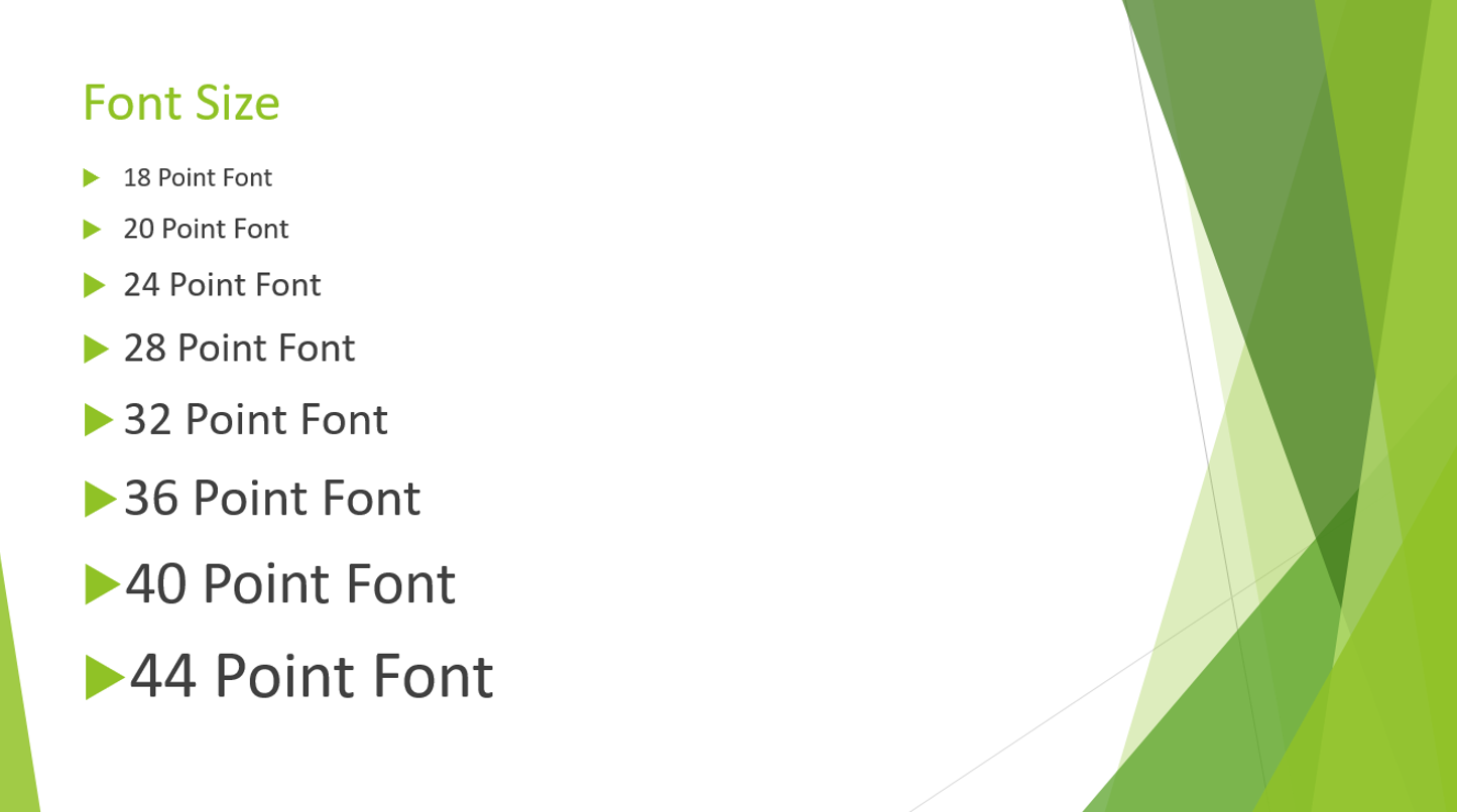Image showing different font sizes