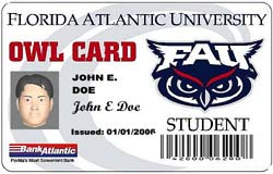 Florida Atlantic University ID card screenshot
