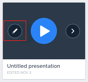 Prezi Edit Button