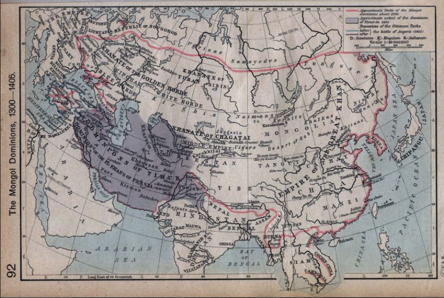 Old map of Eurasia.