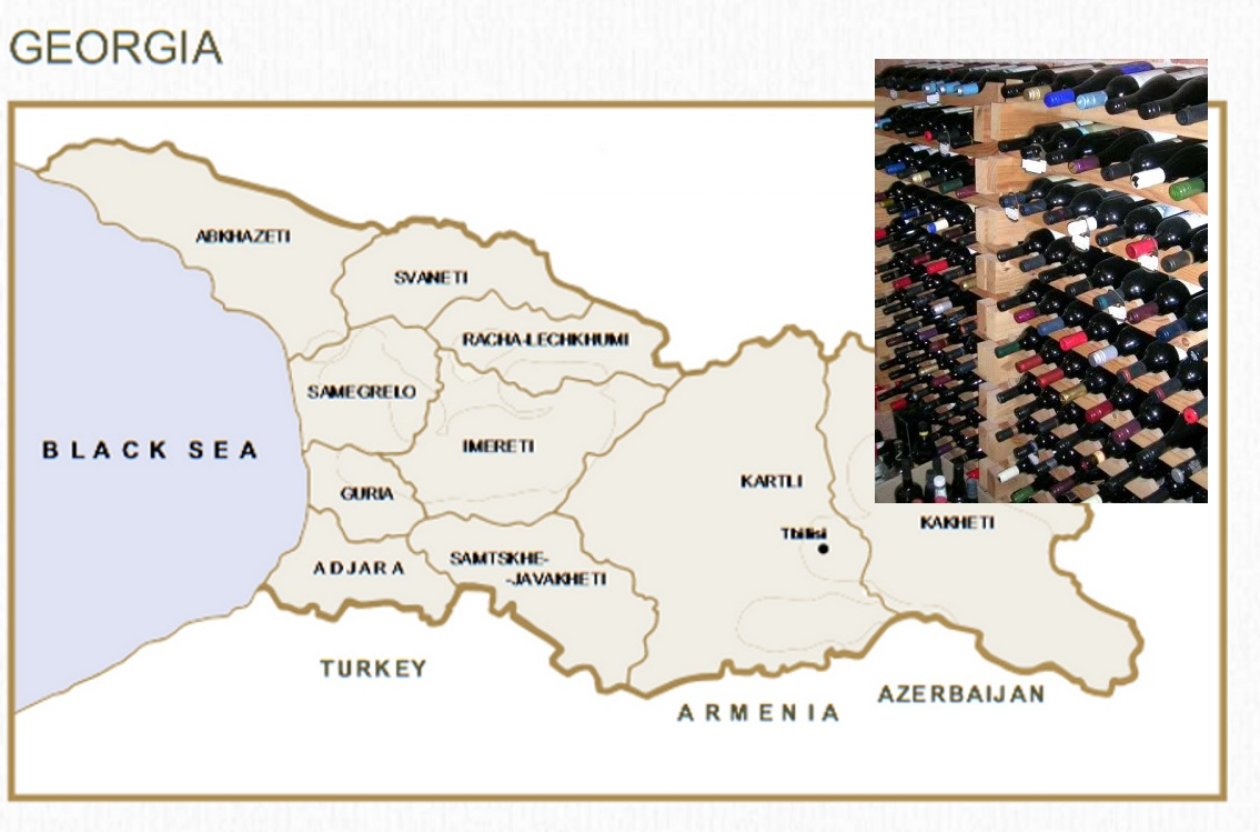 Map of Georgian Wine Regions