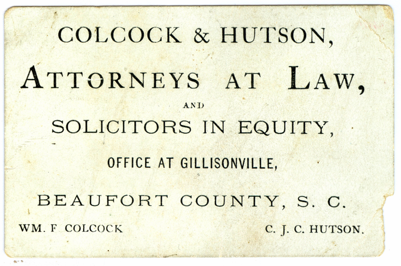 Colcock-Hutson Business Card