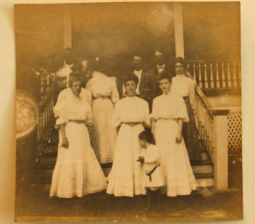 Richard Hutson's sister, Dollie, gave the contents of the Colcock-Hutson law library to Charles Cook. She is pictured on the first row, far right, on the steps of the Hutson family home in McPhersonville. The other family members are not identified, but one of them could be Richard W. Hutson.