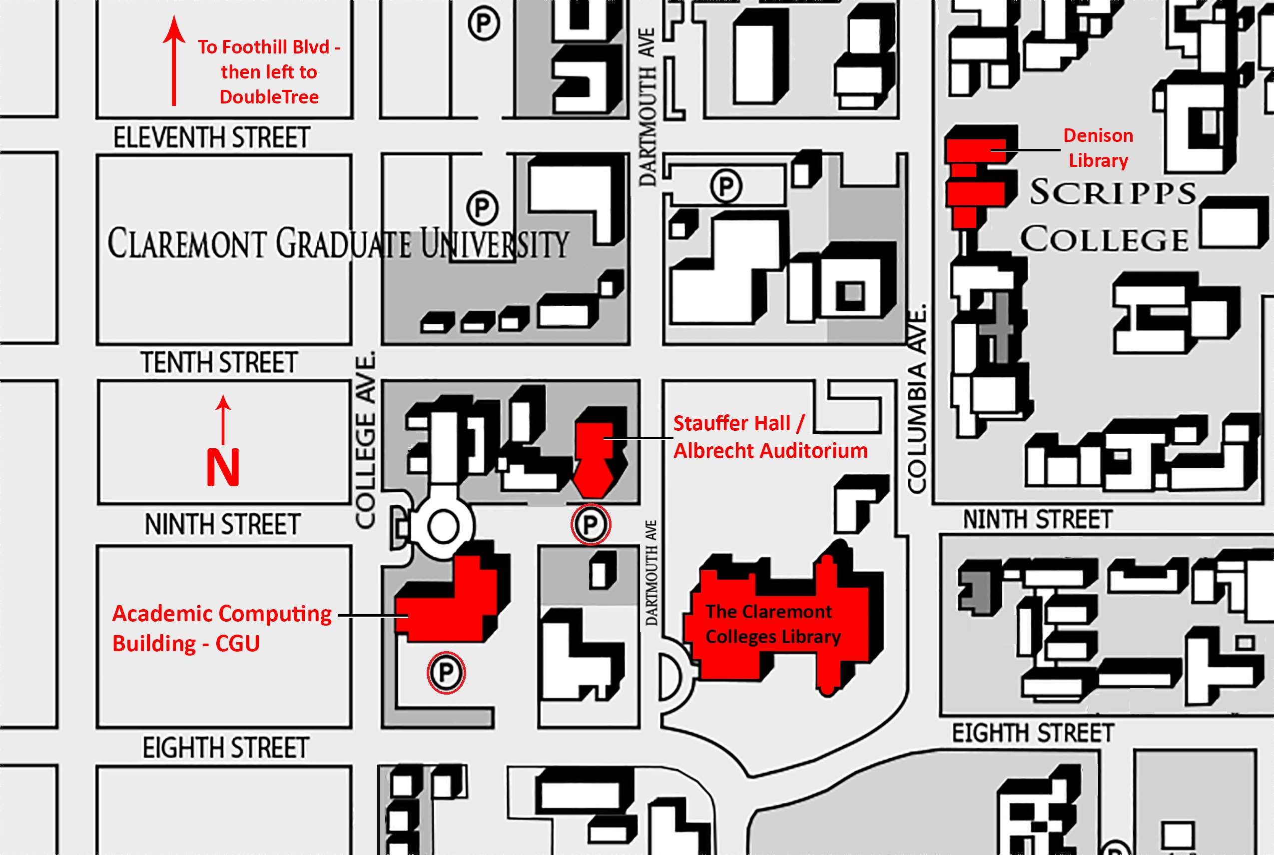 Campus map for symposium
