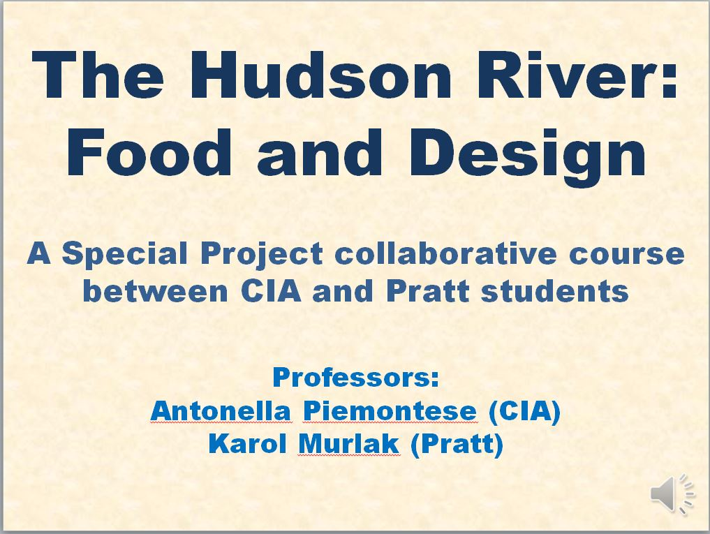 Hudson River Food & Design project