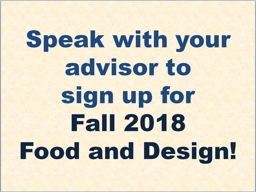 Sign up for Fall 2018