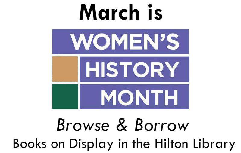 March Book Display for Women's History Month