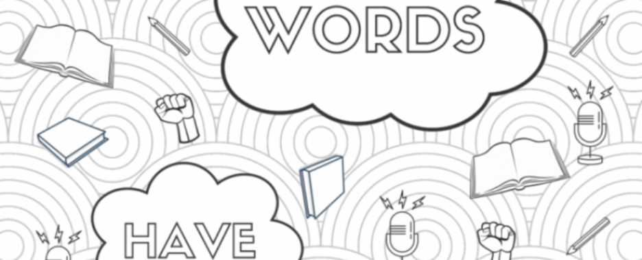 Words Have Power coloring sheet