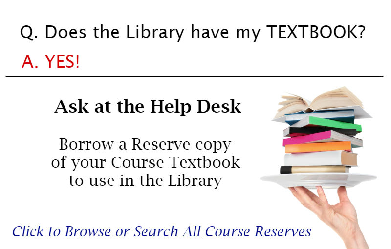 Textbooks on Reserve