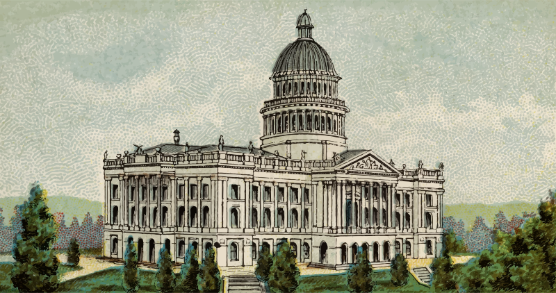 Capitol Building of California - Cigarette Card