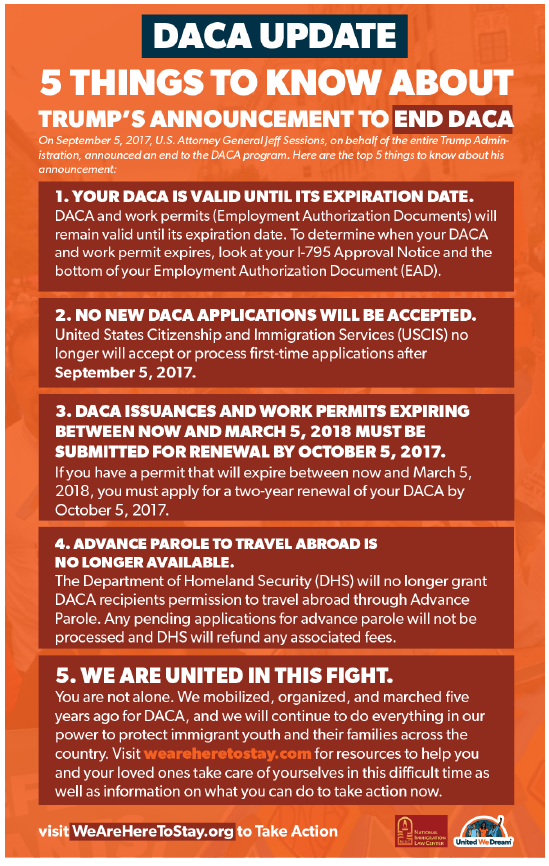 DACA Update: 5 Things to Know