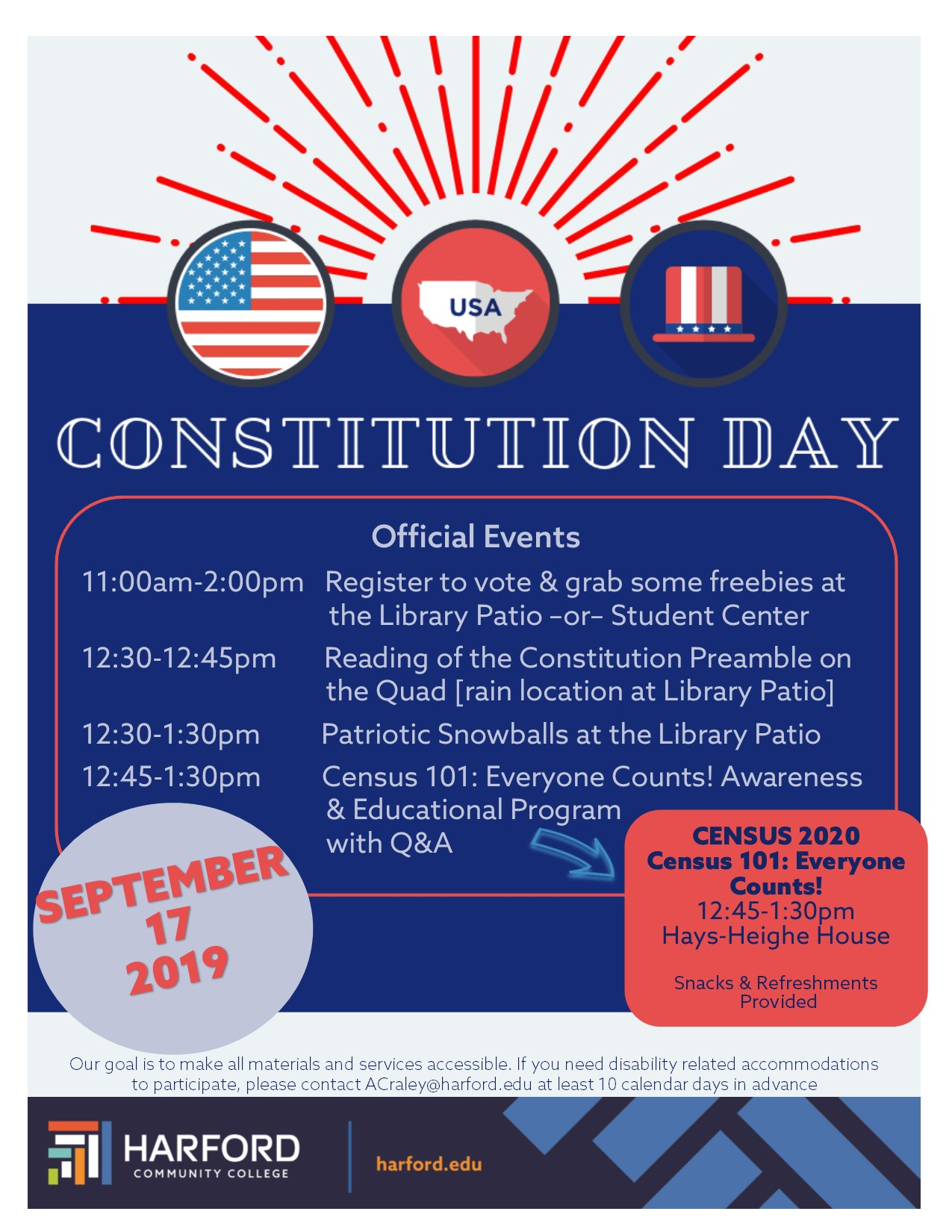 Constitution Day September 17, 2019 flyer