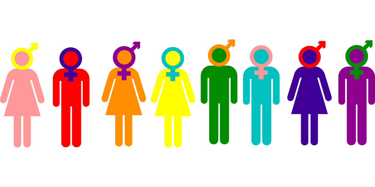 multi-color non-binary gender graphic
