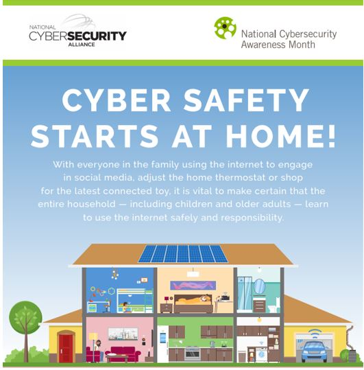 Top of Infographic on Cyber Safety