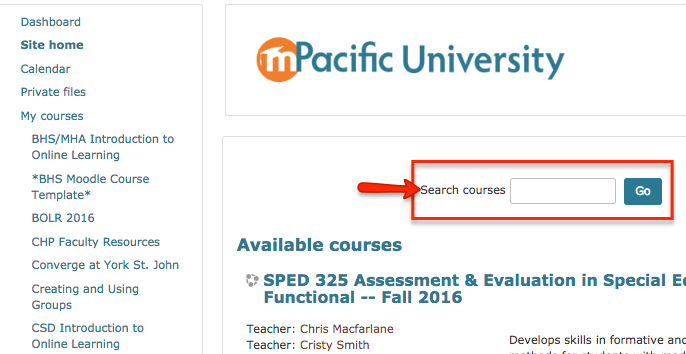 search courses