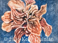 Watercolor by Kelly Quinlan (Brown flowers)
