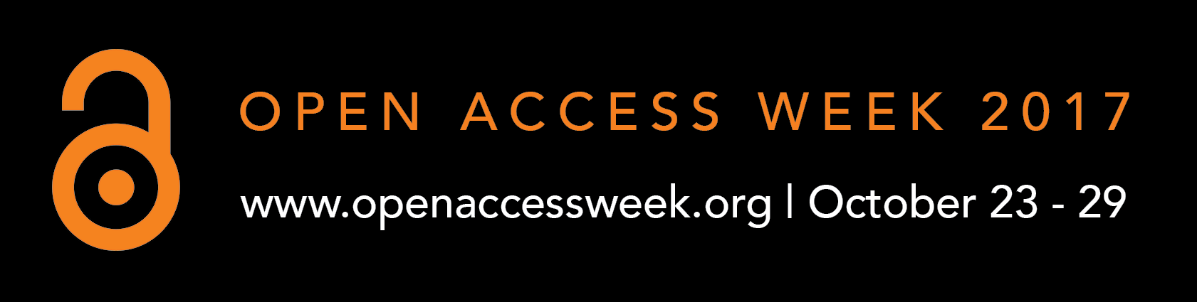 Open Access Week 2017, www.openaccessweek.org, October 23-29