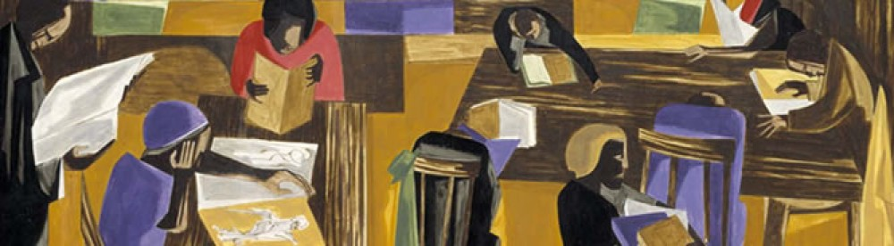 Jacob Lawrence, The Library, 1960,