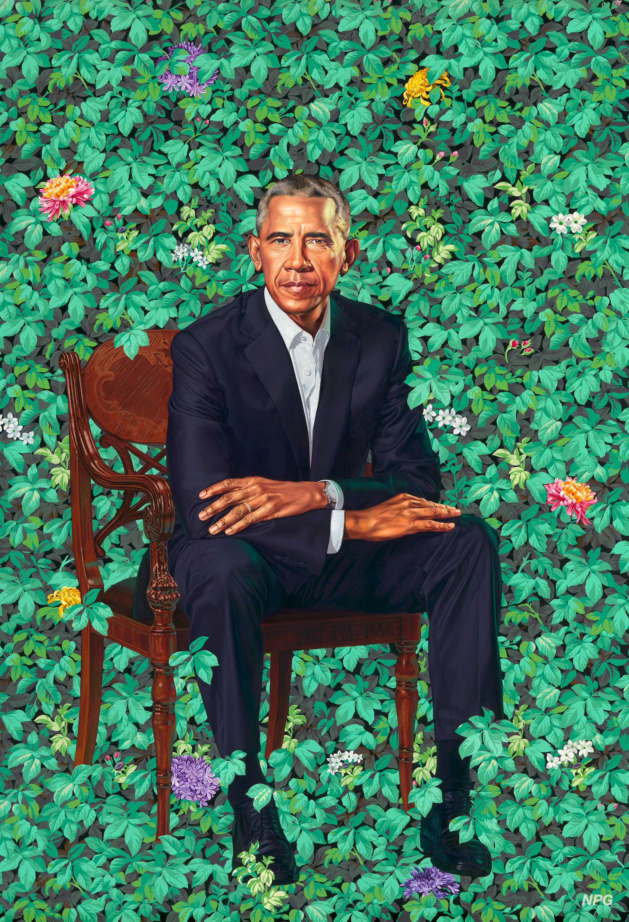 Obama portrait by Kehinde Wiley