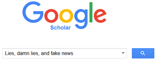 image of Google Scholar article title search example