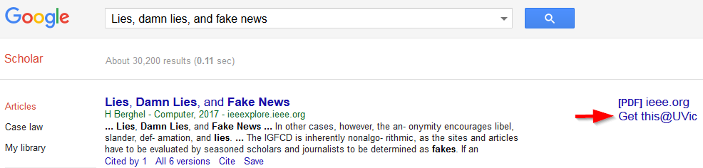 image showing Google Scholar search results page
