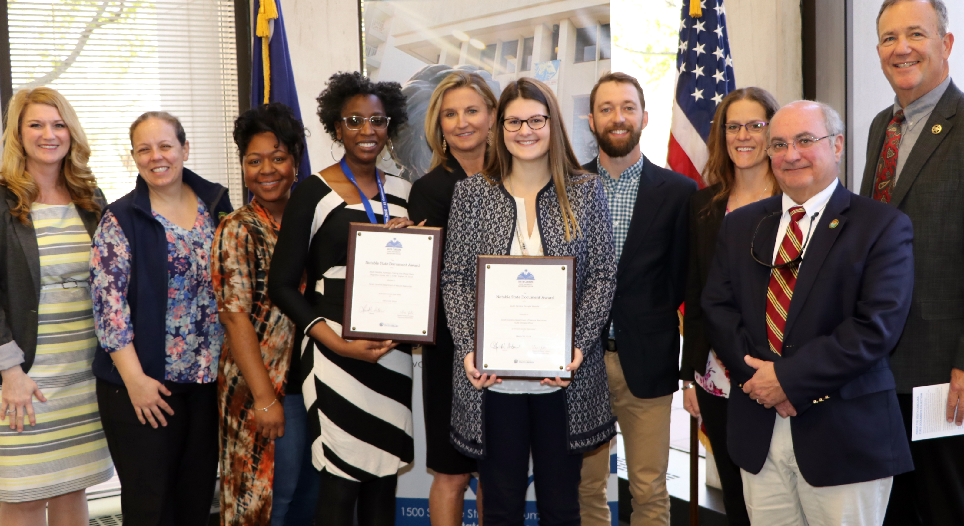 photo of Notable State Document Award winners from 2019