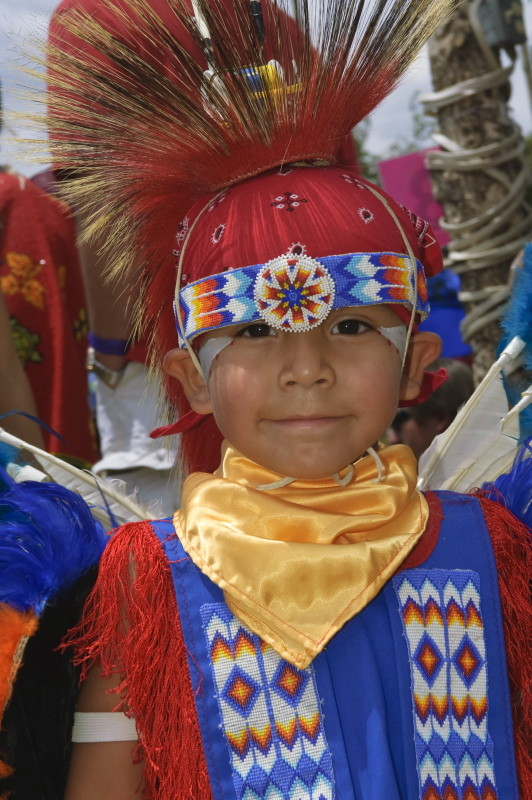 Image photo of Native American boy in Taos, New Mexico