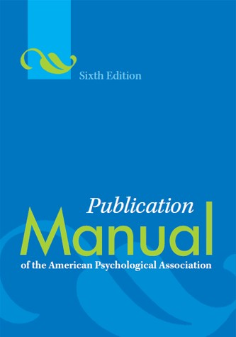 Photograph of book cover for APA Style Guide
