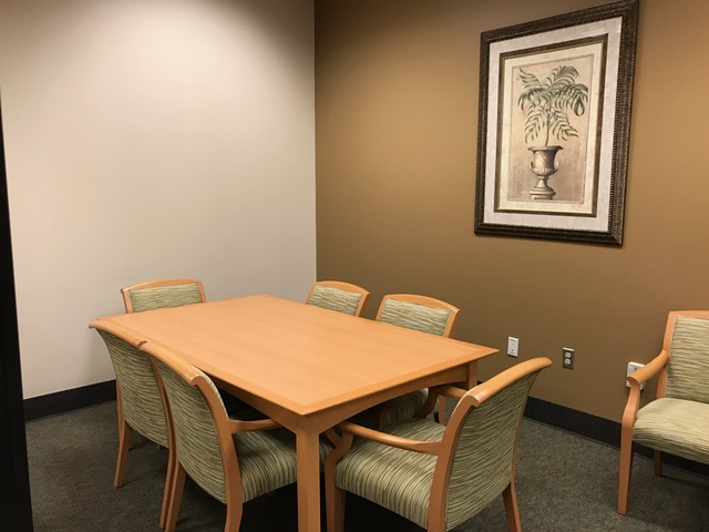 A photograph of a study room at Jesup Library