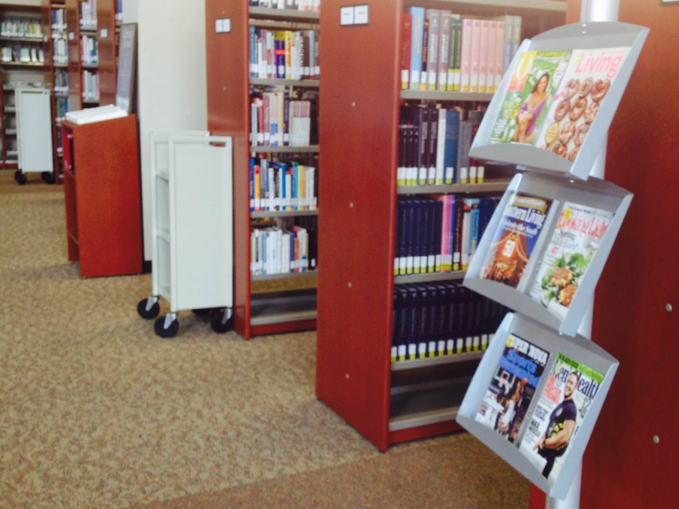 Image photo of book shelves in Waycross library