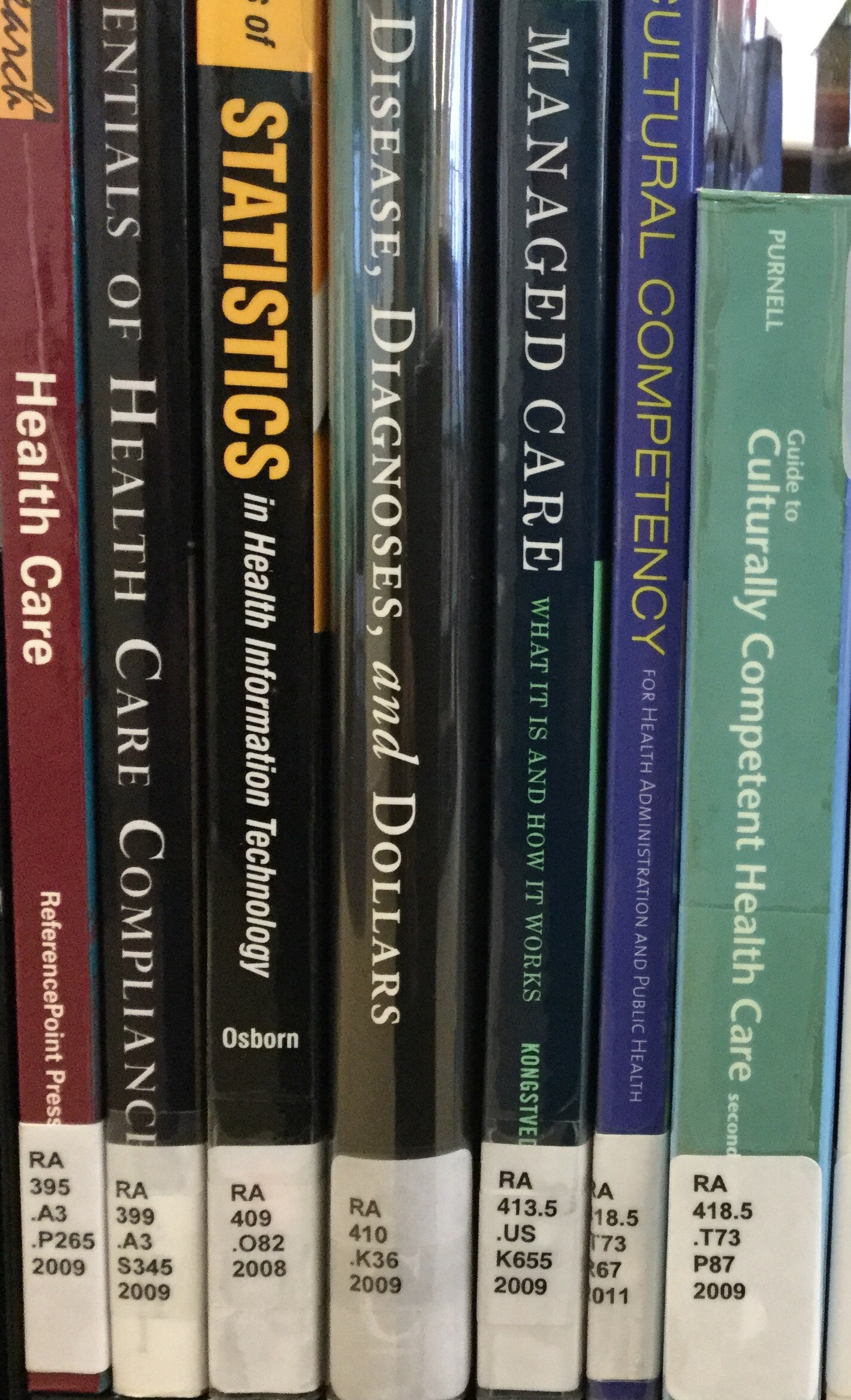 Image photograph of library books on a shelf