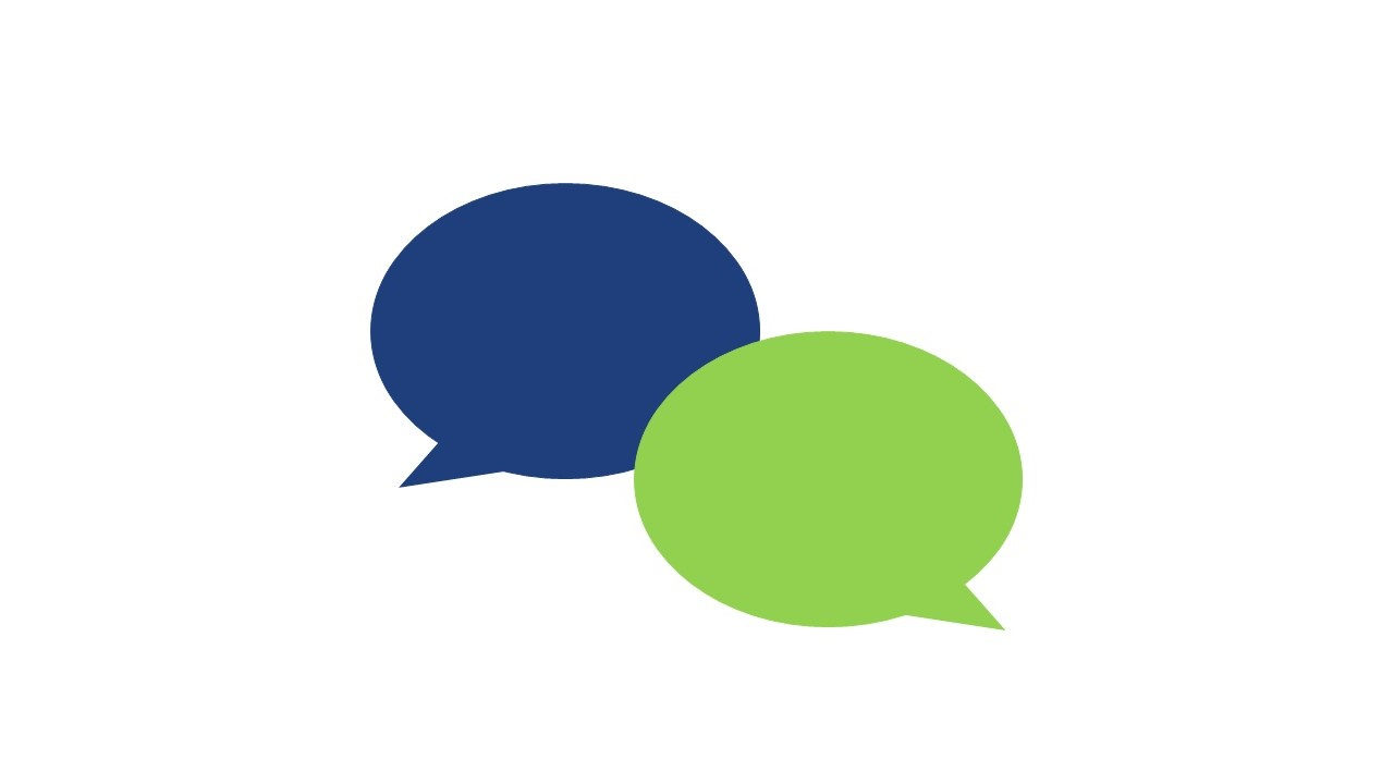 Image illustration for live chat with two quote bubbles