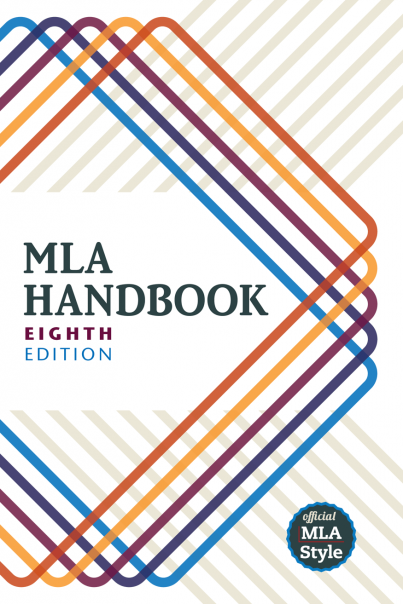 Photograph of cover of MLA Style Handbook