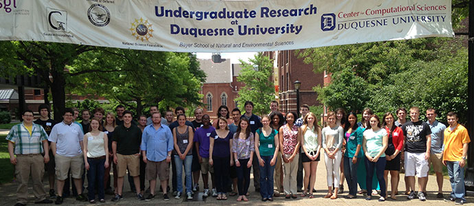 Participants in the Undergraduate Research Program at Duquesne University