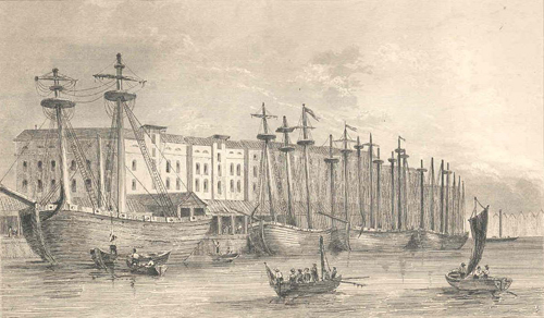 East India Company, Docked Ships