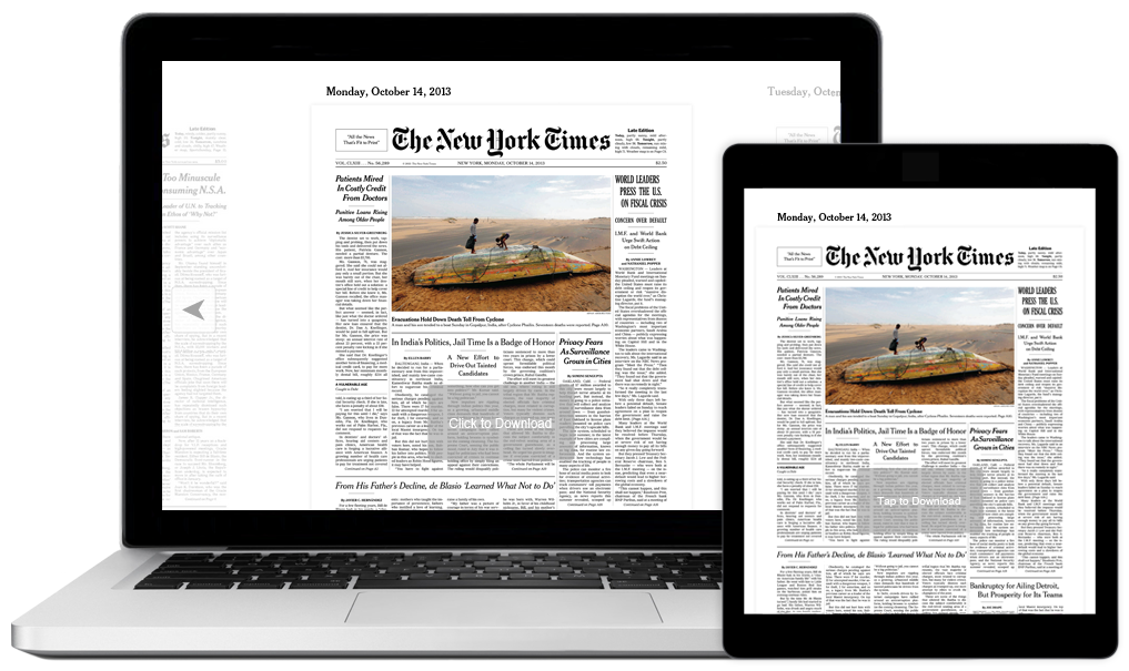 nytimes on screens