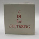 photograph of book, L is for Lettering