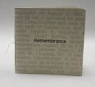 photograph of book, Remembrance