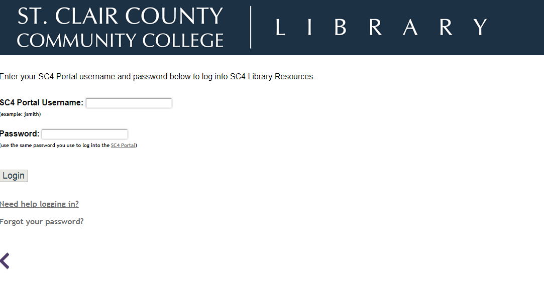 log into sc4 resources off campus