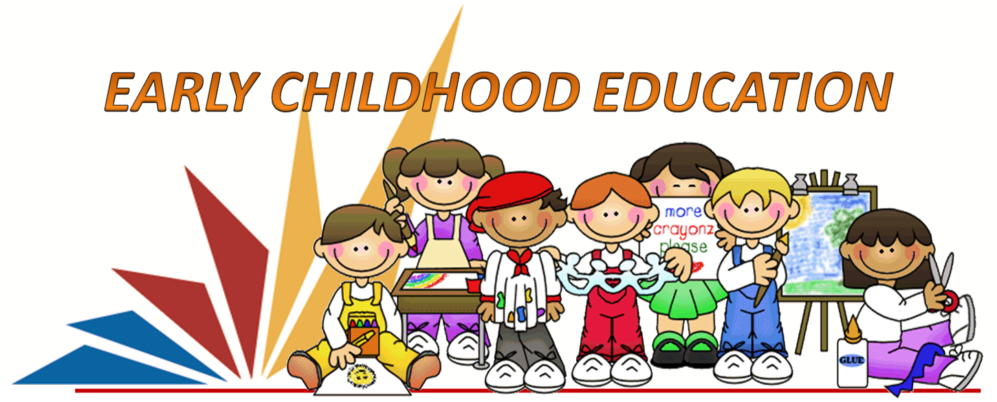 """Early Childhood Education"" surrounded by children learning"