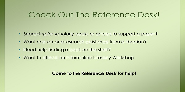 Reference Desk Activities