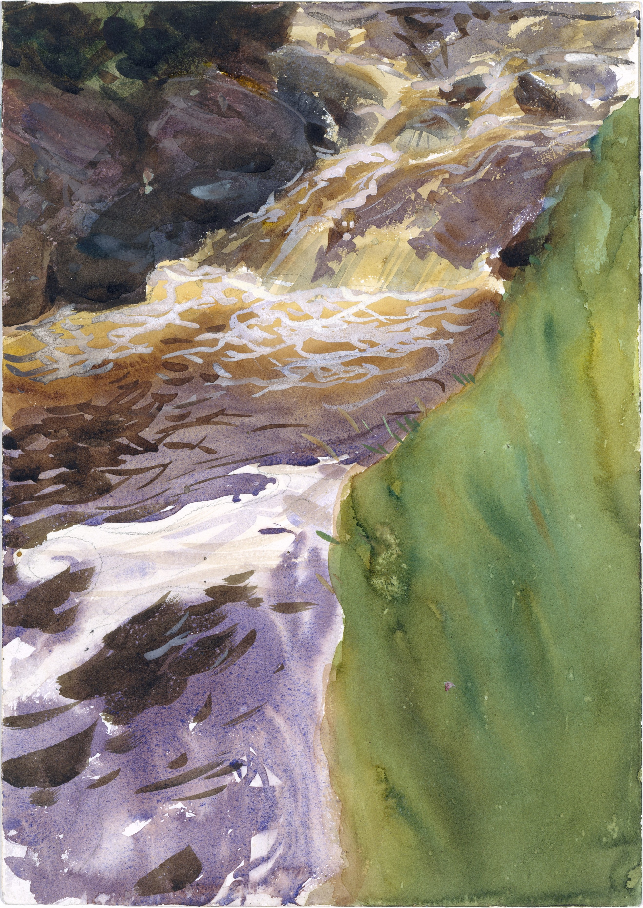 """Rushing Water"" by John Singer Sargent, circa 1901-7"