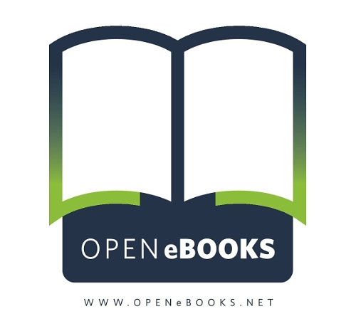 Blue and green open ebooks logo